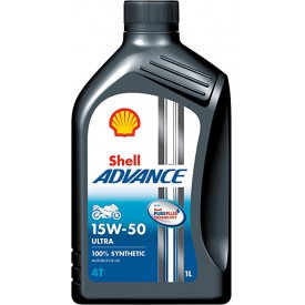 SHELL ADVENCE ULTRA 4T 15W-50 FULLY SYNTHETIC MOTORCYCLE OIL 1L