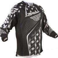Fly Racing Siyah/Beyaz Kinetic Mesh MX Tişört L Size