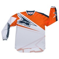 AXO - MOTION Tony Cairoli TC222 MotoCross Jersey White-Orange-Blue L