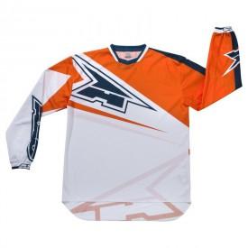AXO - MOTION Tony Cairoli TC222 MotoCross Jersey White-Orange-Blue L