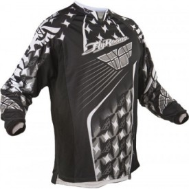 Fly Racing Black/white Kinetic Mesh Offroad Motorcross MX Riding Jersey XL