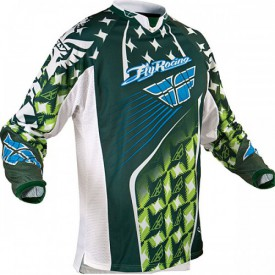 FLY RACING KINETIC JERSEY GREEN XL SIZE