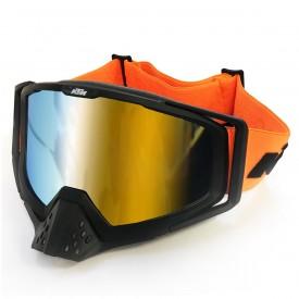 KTM Racing Renkli Camlı, Koruyucu, Siyah Gözlük